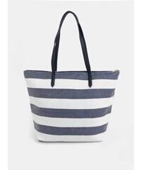 Bílo-modrý pruhovaný shopper Dorothy Perkins 195fbf3018