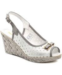 MintakaCZ Mintaka 811170 bílo šedá dámská letní obuv na klínu b042c86262