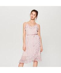 17c87782d6e Mohito - Tylové puntíkované šaty - Růžová
