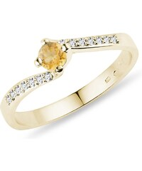 f5ada69c4a6 Eppi Zlatý prsten s tajemným alexandritem a topazy Odran - Glami.cz