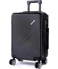 5e3fecd346 Černý cestovní elegantní designový kufr Maroden