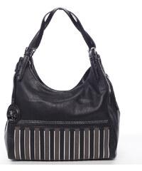 Originálna dámska kabelka cez rameno čierna - MARIA C Melina čierna 28d37fb9b96