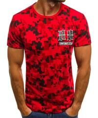 Červené tričko se zajímavým potiskem JS SS517 70e88d2b85