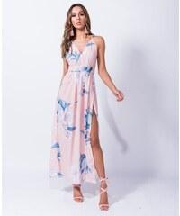 Parisian Letní květované maxi šaty růžové 173a6781c17