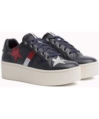 Tommy Hilfiger tmavě modré kožené tenisky Tommy Jeans Icon Sparkle Sneaker 3a5eb9bdec
