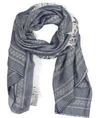 Tommy Hilfiger dámský modro-šedý šátek se vzorem 561e05e5347