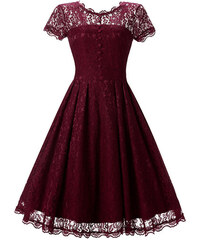 a256a8073a2 Dámské společenské šaty Deabra červené - červená