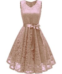 Dámské společenské šaty Catlin meruňkové - meruňková d0017c5999