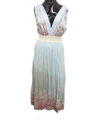 Made in Italy Dámské letní šaty dlouhé modré f118909d65