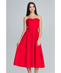 PRETTYLITTLETHING Červené saténové bodycon midi šaty so šnurovaním ... 0aee21dbdf