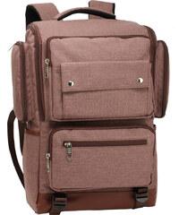 ce11b9abd0e3 L S Fashion Batoh Coffee Backpack Rucksack School Bag - hnědý AG00613 COFFEE