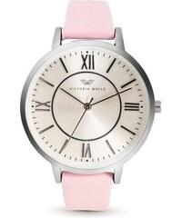 660670101 Dámske hodinky s bielym koženým remienkom Victoria Walls Mist - Glami.sk