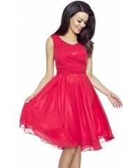 420c2f838c6 Dámské červené šifonové šaty Kartes KM227-1