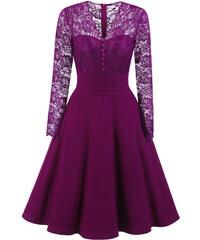 61c62301a35 Dámské společenské šaty Chana fialové - fialová