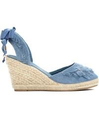 Dámské tmavě modré sandály na klínku Deanna 2071 be8da75b0d