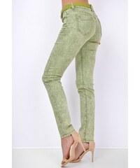 b815ca6aac10 BASIC Zelené nohavice v štýle džínsov 565