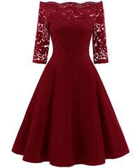 6842ab8ca6e2 Dámské společenské šaty Dorit červené - červená
