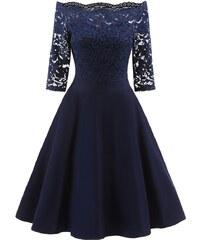 Dámské společenské šaty Dorit modré - modrá 85c2429d25