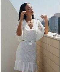 880fa5696e29 Parisian Bílé krajkové šaty ANITA