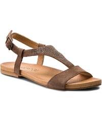Hnědé letní dámské sandály se slevou 30 % a více - Glami.cz 9e67d6023c