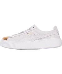 60d54121561 Puma Suede Platform Gold Gold - Star White - Puma White