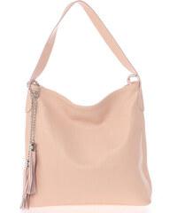 ItalY Módna kožená kabelka cez plece svetlo ružová - Italo Georgine ružová 7e5b5cac36e