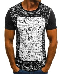 a9892c2c6bff Černobílá pánská trička s krátkým rukávem - Glami.cz