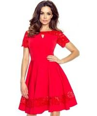 8493d0f7255 Červené šaty Bergamo Bianca s čipkou