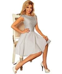 Numoco Dámské krajkové šaty šedé 5a2072e917