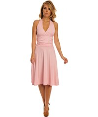 Lemoniade Dámské společenské šaty se zavazováním za krk dlouhé růžové 8a9bf3d0a6