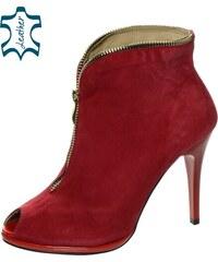 OLIVIA SHOES Červené vysoké čižmy nad kolená DCI029 1 Angel. Detail  produktu. OLIVIA SHOES Červené extravagantné topánky s ihličkovým podpätkom  MS-11 4020cf3413d