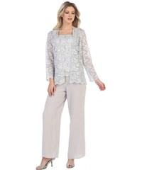 70e68955872e Glamor Kalhotový světle šedý kostým pro společenskou událost