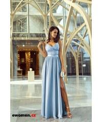 Tmavě modré plesové dlouhé šaty - Glami.cz 3e78c26213