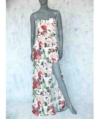 Bílé letní maxi šaty se vzorem - Glami.cz e4f5c5d28a