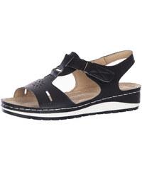 d3202f56133 Černé letní dámské sandály bez podpatku - Glami.cz