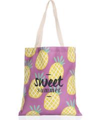 cf479de91 Fashion Icon Módní textilní taška Sweet summer ananas pejsky bavlněná