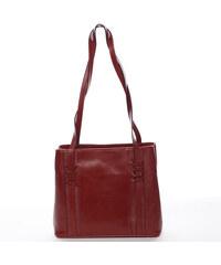 Moderná a elegantná dámska kožená kabelka vínová - ItalY Achilla ... 74f5127b610