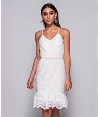 Parisian Letní bílé krajkové šaty ANABELL b3326a2169