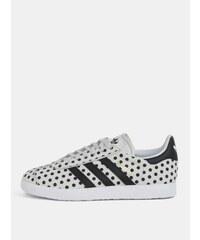 Šedé dámské puntíkované kožené tenisky adidas Originals Gazelle 0799398dd3