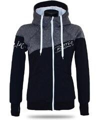 Barrsa Dámska softshell bundomikina s kapucňou na zips Barrs Double Soft  Script Grey Melange   Black e395ae9df8b
