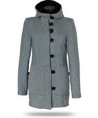 707a1984cc Dámský kabát propínací s kapucí Barrsa Princess Coat Grey
