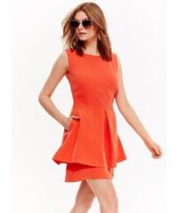 Top Secret šaty dámské pomerančové bez rukávu f1b74fa4ed