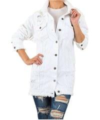 Biele Dámske bundy a kabáty  de8fa0f0393