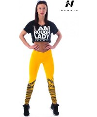 Žluté dámské kalhoty velikost m - Glami.cz e722b4013d