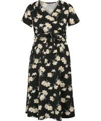 Krémovo-černé těhotenské kojicí květované šaty Dorothy Perkins Maternity 2ec6f3fba6