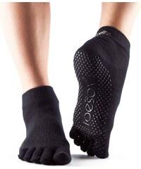 ba7dd27708f Toesox Fulltoe Bellarina Grip protišmkové ponožky (černé) - Glami.cz