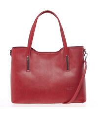 Väčšia kožená kabelka červená - ItalY Sandy červená 98399fae04c