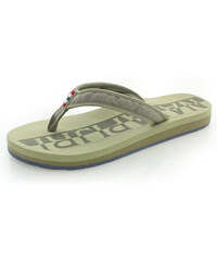 Napapijri Dámské hnědo-zelené pantofle 16798556 83f9c236fa2