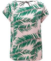 Zeleno-ružové vzorované tričko s hlbokým výstrihom na chrbte Blendshe Adeli 38a762dd257