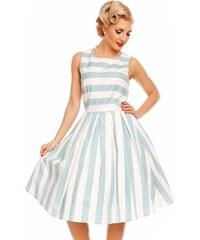 DOLLY AND DOTTY Retro šaty Annie modrobílý proužek 620168645a
